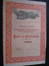 LOT ACTION ET PART FONDATEUR BELGIQUE MALMEDY  TANNERIE LANG 1929