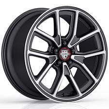 "4-NEW Centerline 633MB MM4 17x8 5x4.75"" +0mm Black/Machined Wheels Rims"