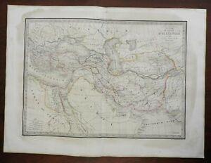 Empire of Alexander the Great Macedonia Persia Egypt 1842 Lapie large folio map