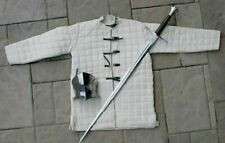 Medieval Gambeson Reenactment Theater Roman White Color Nice Style