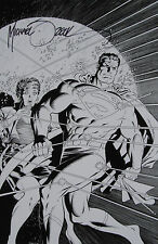 MIKE ZECK rare SUPERMAN print SIGNED art B/W exclusive LOIS inks NICE