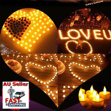 24X LED Tea Light Candles Rechargeable Battery Flameless Flickering Valentine AU