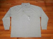 St. John's Bay, XL Sueded Long Sleeve Polo Shirt, NWT MSRP: $48.00(photo # 1907)