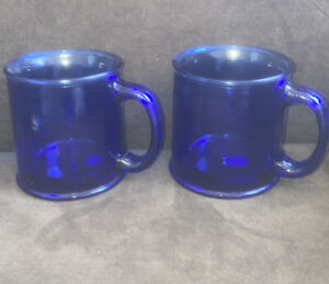 Blue Glass Mugs For Sale Ebay