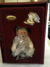 Steiff Collection by Enesco 1930 Pewter Teddy Baby and Treff Puppy