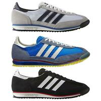 adidas ORIGINALS MEN'S SL 72 VINTAGE TRAINERS BLACK NAVY WHITE SNEAKERS SHOES