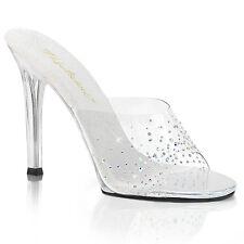 Pleaser Fabulicious Gala 01sd Clear Heel Rhinestone Posing Shoes Ukbff Ribbf UFB UK 5 PL Gala01sd/c/m-8