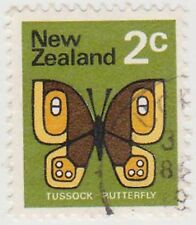 (NZK937) 1970 NZ 2c TUSSOCK butterfly (A)
