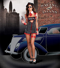 New Gangster Moll Costume S UK 8-10 Dress Gangsta Nora Spect :) Fancy dress