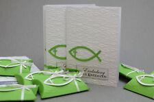 Set 10 x Gastgeschenke  Konfirmation und 10 x Einladungskarten mit Umschlag