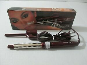 VINTAGE NORELCO CHIC RETRACTABLE BRISTLE ELECTRIC CURLING BRUSH COVERTS TO IRON