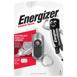 Energizer Touch Tech Keychain Light Bright LED TKC2C 20 Lumens Flashlight