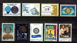 ROTARY INTERNATIONAL COMPLETE  COUNTRY COLLECTION  ALL URUGUAY STAMP ISSUES MNH