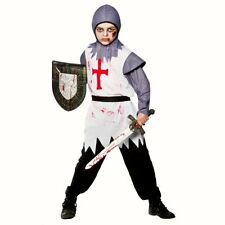 Boys Zombie Warrior Knight fancy dress costume Halloween outfit St George