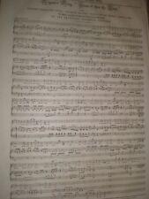 MIGNON'S SONG by sigsimond Neukomm da Goethe 1845 vecchia musica Foglio RIF E