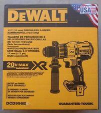 """NEW - DEWALT DCD996B 20V 20 Volt Lithium Ion  Brushless 1/2"""" Hammer Drill !!!"""