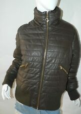 BABY PHAT Jacket Puffer Leather Kimora Lee Simmons Brown Coat XX-Large