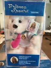 """Vintage Britney Spears """"Sensational"""" LIMITED EDITION  Rare Bear - NEW IN CASE"""