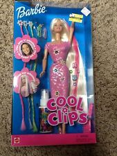 NEW NIB Cool Clips Barbie Doll 1999 - Clip & Gems for your hair too! #26425