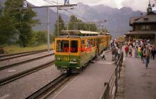 PHOTO  SWITZERLAND WENGEN 1988 RAILWAY WENGEN WAB 133 WENGERNALP RAILWAY