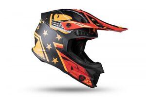 UFO Intrepid Motocross Helmet Matt Black Orange All Adult Sizes