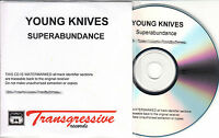 YOUNG KNIVES Superabundance 2008 UK numbered 13-track promo test CD