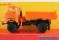 Busch/Espewe 95254 IFA W50 3SK mit Kran (1966) in orange 1:87/H0 NEU/OVP