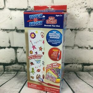 Touch N Brush Hands-Free Toothpaste Dispenser My Style Stickers BONUS Toothbrush