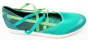 Neuf Teva Femmes Bretelles Vert à Enfiler Athlétique Marche Chaussures US 7 Ue