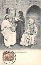 CPA EGYPTE MOUSIQUE ARABE (dos non divisé)