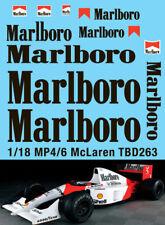 1/18 McLaren Honda MP4/6 Ayrton Senna G.Berger 1991 Decals TB Decal TBD263