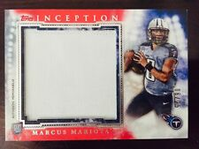 MARCUS MARIOTA 2015 Topps Inception ROOKIE JUMBO RELIC **RED** /25 - Titans