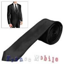 Classique Soie Mariage Mode Homme Commerce Business Cravate Noir 100% polyester