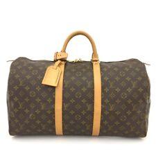 100% Authentic Louis Vuitton Monogram Keepall 50 Boston Travel Hand Bag /40480