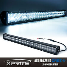 Xprite 180W CREE 5D Fisheye Lens LED Offroad Light Bar Spot Flood Combo 32 Inch