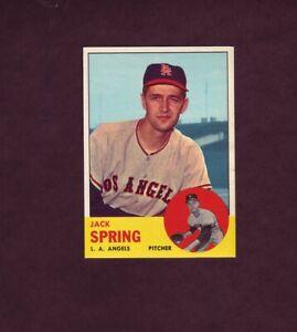 1963 Topps Baseball Card #572 Jack Spring LA Angels High Number # NM Or Better