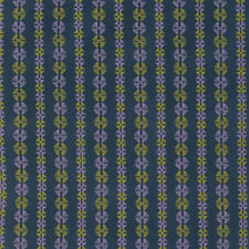 Amy Butler Bright Heart Inspired Navy Stitchy Dots Cotton Fabric - Per 1/4 Metre