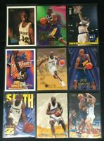 Joe Smith-GS Warriors-lot of 9-6 Rookies-1996 Topps/NBA Hoops/Skybox/Upper Deck