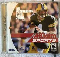 NFL Quarterback Club 2000 Complete CIB- Sega Dreamcast- VGC- TESTED