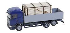 FALLER Car System Scania R13 HL Flatbed Truck w/ Crate Load VI HO Gauge 161597