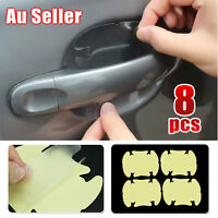 8 pcs Car Door Handle Paint Scratch Protector Film Stickers Transparent Clear OZ