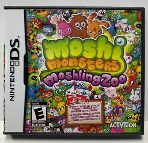Moshi Monsters Moshling Zoo for Nintendo DS Complete Authentic NTSC No Card