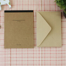 Nice 50sheets Kraft Ruled Lined Writing Stationery Paper Pad & 10sheets Envelope