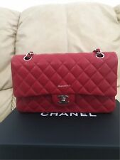 100% Authentic Red Caviar Medium Chanel Flap Classic.