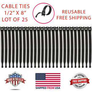 VELCRO Brand ONE-WRAP Thin Ties Cable Cord Organizer Reusable Straps 25 Pcs NEW