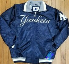 Authentic Navy New York Yankees Starter Brand MLB Tough Seasons Satin Jacket
