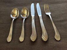 Reed & Barton BENTWOOD 5 piece set Dinner Knives, Dinner Fork, Soup Spoons
