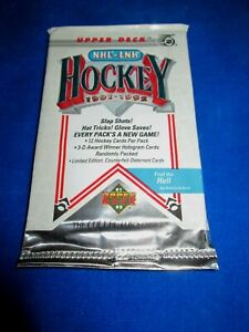 1991-92 Upper Deck Hockey Pack - Lidstrom, Hasek, Selanne RC Year