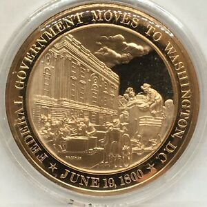Franklin Mint American History Series~1800 Federal Gov Moves to Washington