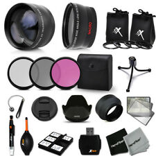 Xtech Kit for Canon EOS Rebel T3i 58mm Lens w/ Wide Lens +2X Lens Filters +MORE!